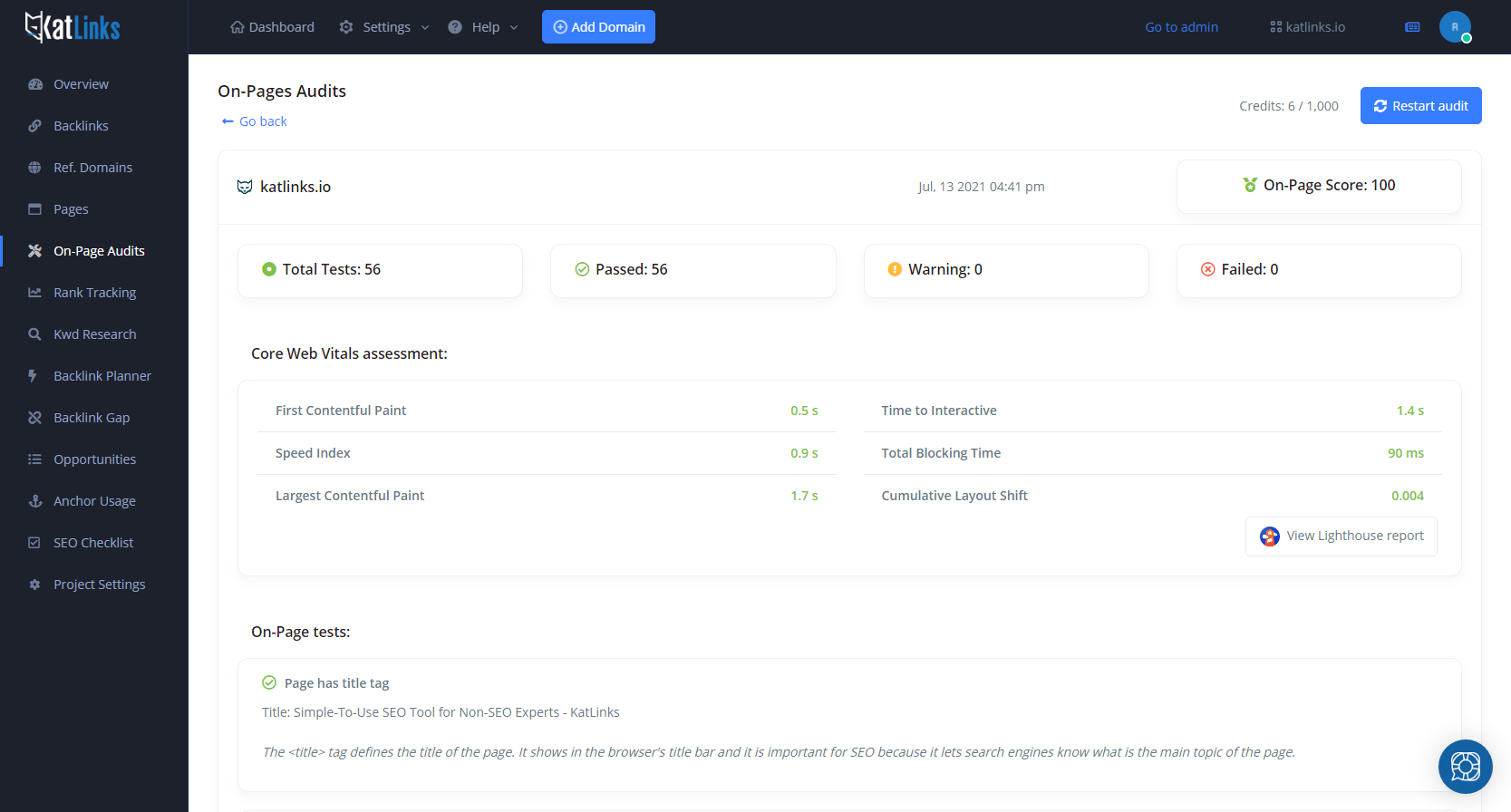 On-Page SEO Audit Tool