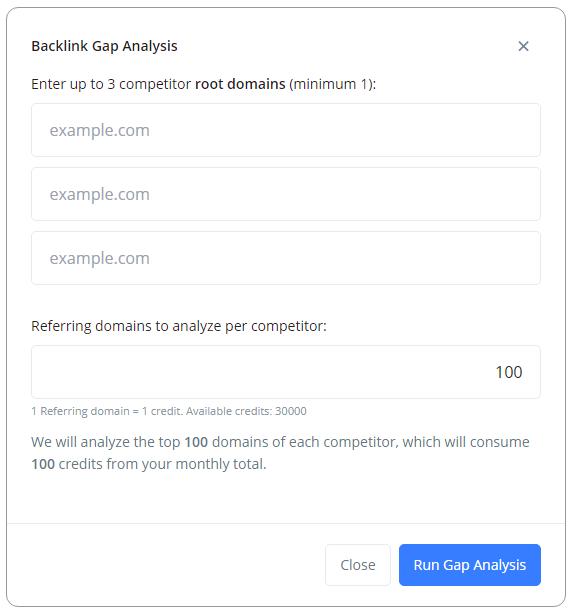 backlink gap competitor analysis